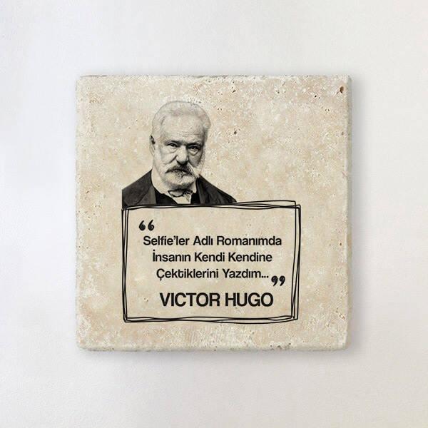 Victor Hugo Esprili Taş Bardak Altlığı