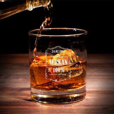- Viski Severlere Özel İsimli Viski Bardağı