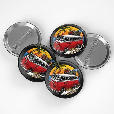 - Vosvos Minibüs Tasarımlı Buton Rozet