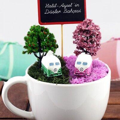 Vosvos Minibüslü Minyatür Bahçe - Thumbnail