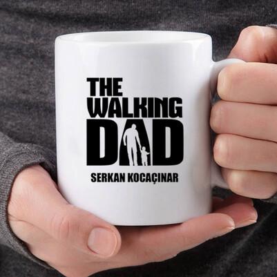 Walking Dad İsme Özel Kupa Bardak - Thumbnail