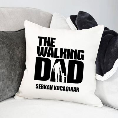 Walking Dad İsme Özel Yastık - Thumbnail