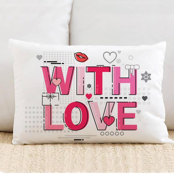 With Love Motto Tasarım Yastık