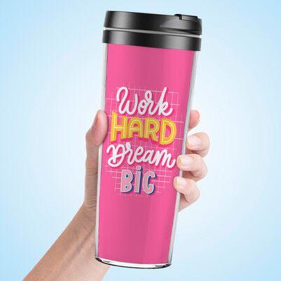 Work Hard Dream Big Termos Bardak - Thumbnail