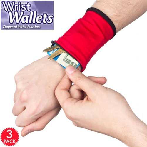 Wrist Wallet - 3'lü Bileklik Cüzdan Seti
