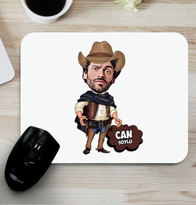 - Yakışıklı Kovboy Karikatürlü Mouse Pad
