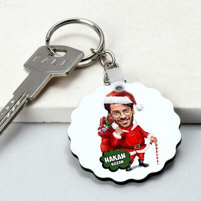 - Yakışıklı Noel Baba Karikatürlü Papatya Anahtarlık