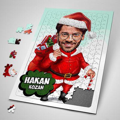 - Yakışıklı Noel Baba Karikatürlü Puzzle