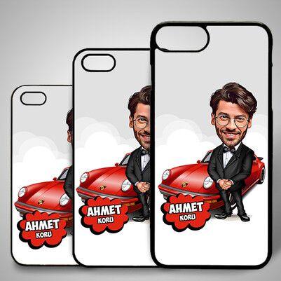 - Yakışıklı ve Zengin Karikatürlü iPhone Kapak