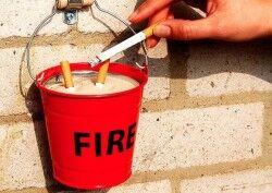 Yangın Kovası Şeklinde Küllük - Thumbnail