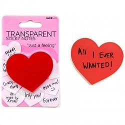 Yapışkanlı Şeffaf Kalp Not Kağıtları - Thumbnail