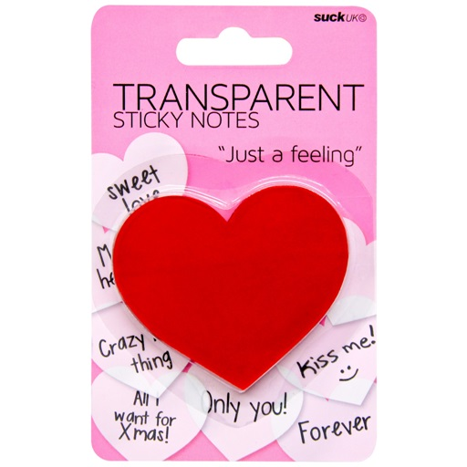 Yapışkanlı Şeffaf Kalp Not Kağıtları