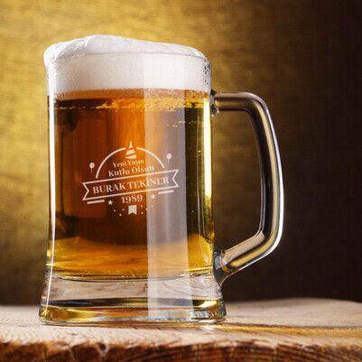 Yaş Günü Tasarımlı Bira Bardağı - Thumbnail