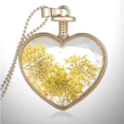 - Yaşayan Sarı Çiçek Kolye YK27