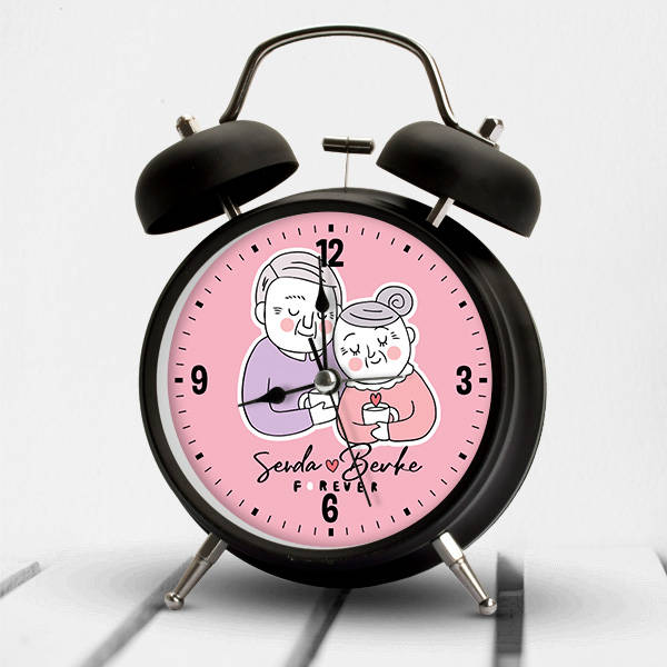 Yaşlı Çiftler İsme Özel Çalar Saat