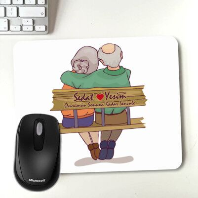- Yaşlı Çiftler Tasarımlı Mousepad