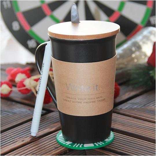 Yazılabilir Porselen Kahve Kupası