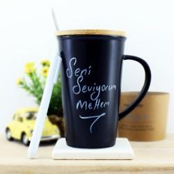 - Yazılabilir Porselen Kahve Kupası