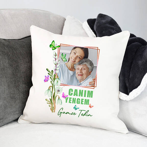 Yenge Sevgisi Fotoğraflı Yastık
