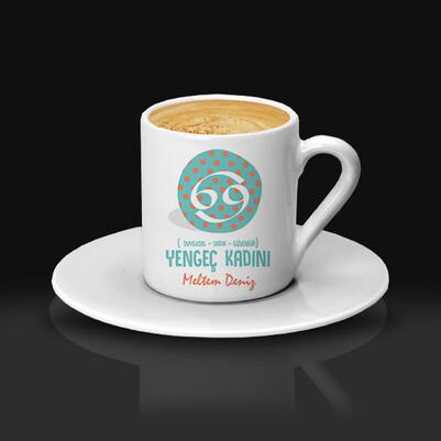 Yengec Burcu Kadınına Hediye Kahve Fincanı - Thumbnail