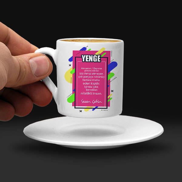 Yengeme Hediyem İsimli Kahve Fincanı