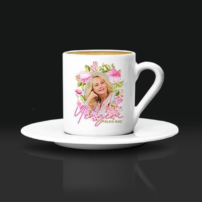 - Yengeye Hediye Çiçek Desenli Kahve Fincanı
