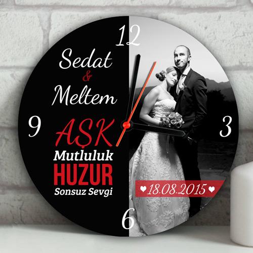Yeni Evli Çiftlere Özel Duvar Saati