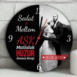 - Yeni Evli Çiftlere Özel Duvar Saati
