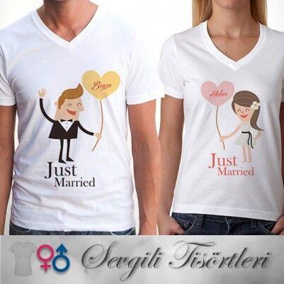 - Yeni Evlilere Özel Sevgili Tişörtü