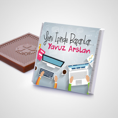 Yeni İşinde Başarılar Çikolata Kutusu - Thumbnail