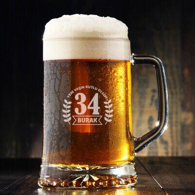 - Yeni Yaşın Kutlu Olsun Bira Bardağı