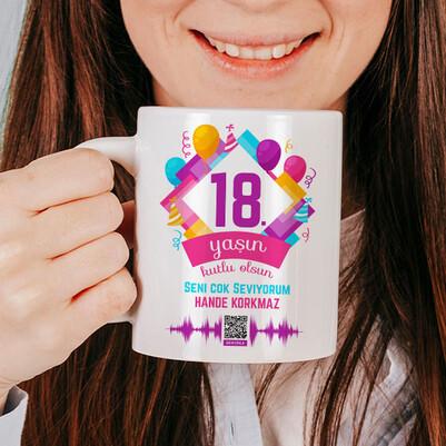 Yeni Yaşın Kutlu Olsun Ses İzi Kupa Bardak - Thumbnail