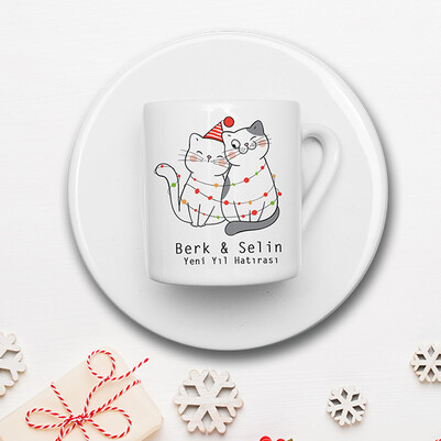 Yeni Yıl Kedicikleri Konsept Hediye Kutusu - Thumbnail