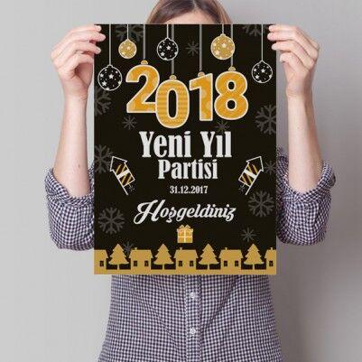 - Yeni Yıl Partisi İlan Posteri