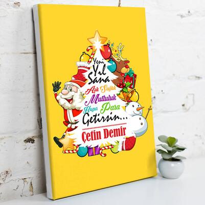 - Yeni Yıl Sana Mutluluk Getirsin Kanvas Tablo