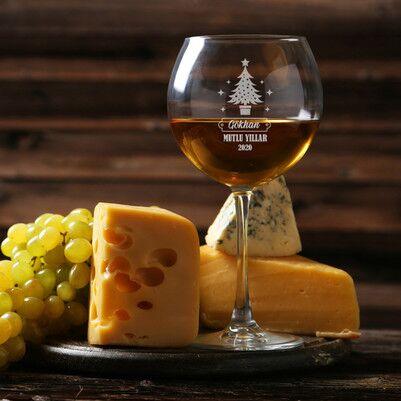 - Yeni Yıla Özel İsimli Şarap Kadehi