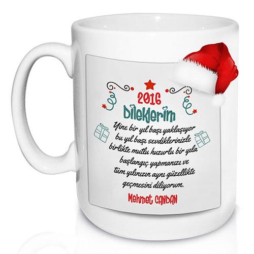 Yeni Yıldan Dileklerim Kupa Bardak