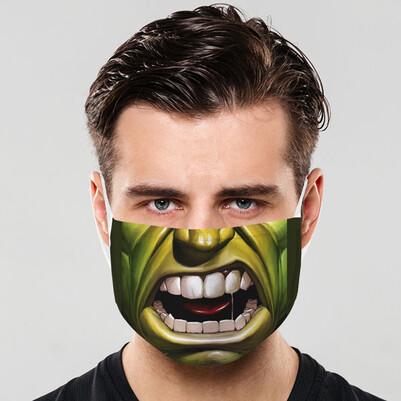 - Yeşil Dev Yıkanabilir Tasarım Maske