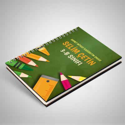 Yeşil Tahta Temalı Öğrenci Defteri - Thumbnail