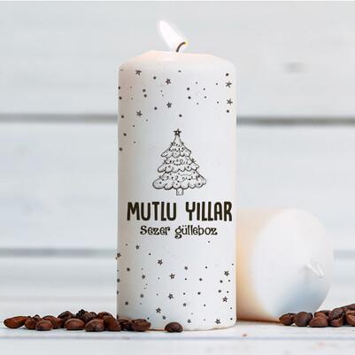 Yılbaşı Çam Ağacı Dekoratif Mum - Thumbnail