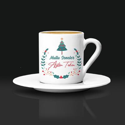 - Yılbaşı Çam Ağacı İkonlu Kahve Fincanı