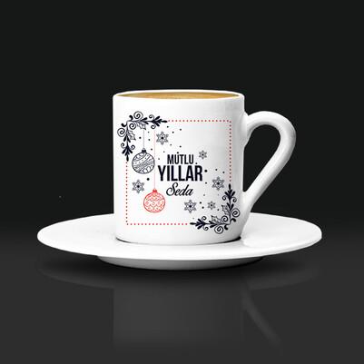 - Yılbaşı Dileğim İsme Özel Kahve Fincanı
