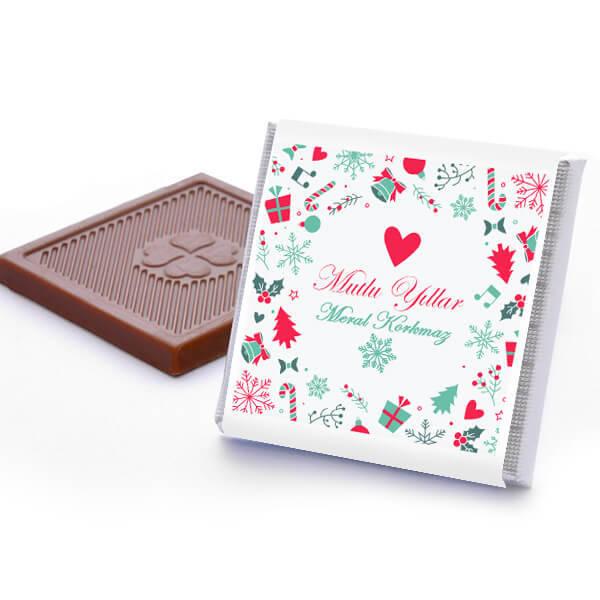 Yılbaşı Dileklerim Mesajlı Çikolatalar