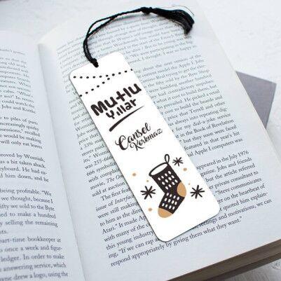 - Yılbaşı Hediyesi Çorap Temalı Kitap Ayracı