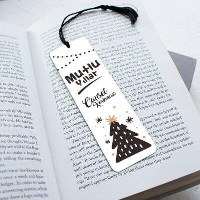 - Yılbaşı Hediyesi Mutlu Yıllar Kitap Ayracı