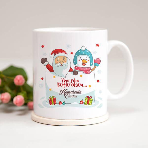 Yılbaşı Hediyesi Noel Baba Kupa Bardak