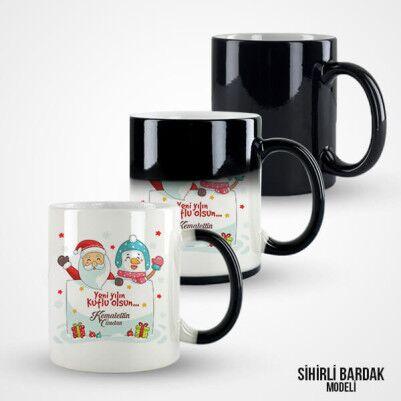 Yılbaşı Hediyesi Noel Baba Kupa Bardak - Thumbnail