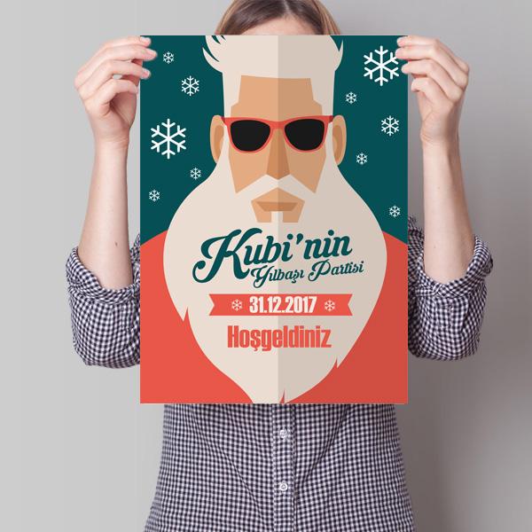 Yılbaşı Partime Davetlisiniz Posteri