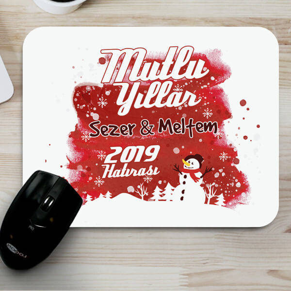 Yılbaşına Özel Mesajlı Mousepad