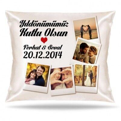 Yıldönümümüz Kutlu Olsun Aşkım Yastık - Thumbnail